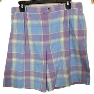 Country Club by Koret plaid high waisted shorts